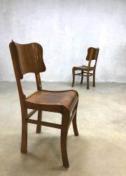 vintage eetkamer stoel, vintage dinner chair art deco stijl