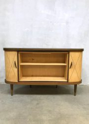 vintage bookcase cocktail cabinet midcentury design