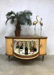 Midcentury vintage cocktail bar cabinet dranken kast fifties