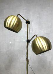 midcentury modern brass floorlamp vloerlamp retro bollamp