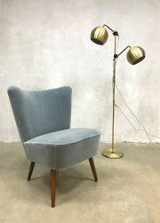 fifties sixties seventies floorlamp Anvia gold brass vloerlamp