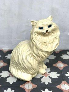 Vintage beeld ceramic pussycat deco poes kat keramiek aardewerk