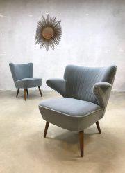 Vintage Artifort cocktail chair velvet clubfauteuil velour