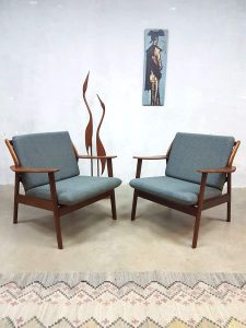 Vintage design arm chairs easy chairs lounge fauteuils de Ster Gelderland