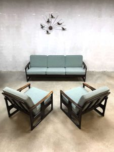 Vintage lounge set Danish design sofa chairs Deense fauteuils