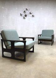 vintage midcentury modern lounge chair fauteuil Danish Deens Scanidinavisch