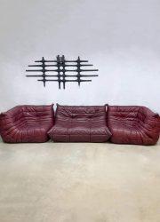 Rode Leren Design Bank.Vintage Leren Design Bank Sofa Togo Ligne Roset Michel Ducaroy