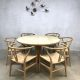 Vintage dining table Skovmand & Andersen Danish design eetkamertafel