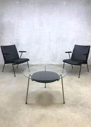 Dutch vintage design salontafel mug coffee table mosquito Wim Rietveld Gispen 535 bijzettafel industrieel interieur loft interior fitties jaren 50