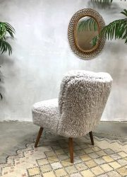 vintage cocktail stoel faux fur lounge chair cocktail chair sheepskin