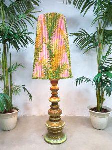 Vintage botanische vloerlamp botanical flower floor lamp XXL