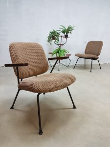 Vintage Industrial lounge chairs Kembo Gispen 'minimalism'