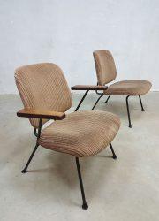 Vintage Industrial lounge chairs Kembo Gispen 'minimalism'