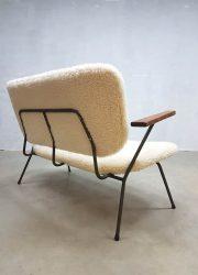 mid century design faux fur sofa Kembo Gispen fifties sixties