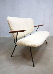 Vintage Dutch design bank sofa Kembo Gispen 'Sheep'