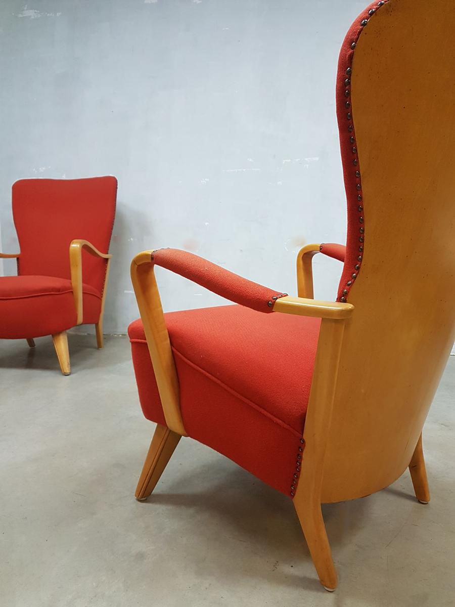 Vintage Dutch Design Fauteuil Wingback Chair Cees Braakman