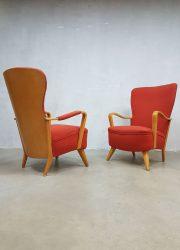 Vintage Dutch design fauteuil wingback chair Cees Braakman Pastoe