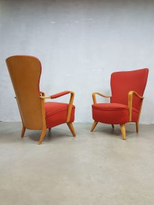 Vintage Dutch design fauteuil wingback chair Cees Braakman Pastoe