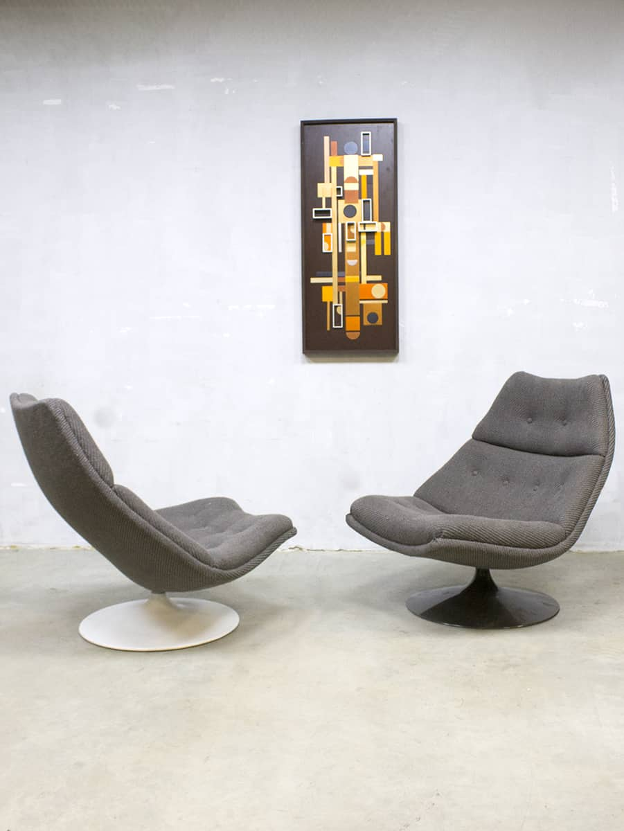 Pleasant Midcentury Vintage Draaifauteuil Artifort Swivel Chair Machost Co Dining Chair Design Ideas Machostcouk