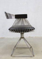 vintage midcentury modern Delta chair Novalux eetkamerstoel stoelen Rudi Verelst