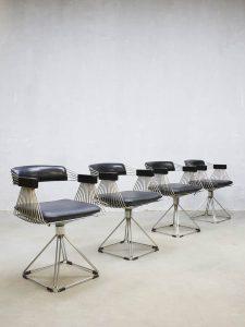 Vintage design Delta dinner chairs eetkamerstoelen Rudi Verelst Novalux