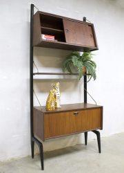 vintage retro modulair wandsysteem kast wallunit cabinet