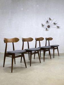 Vintage dinner chairs eetkamerstoelen Louis van Teeffelen Webe