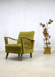 vintage mid century modern design armchair spindle fauteuil