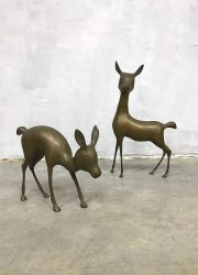 Brass Bambi deer sculpture decoration messing vintage koper hert