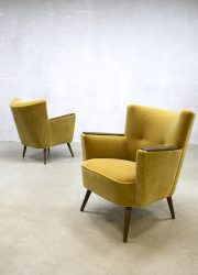 vintage jaren 50 club fauteuil cocktail stoel retro fifties chair