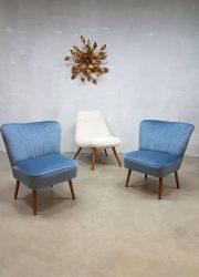 vintage retro cocktail stoel clubfauteuil lounge stoel expo chair retro velvet