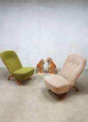 midcentury modern lounge fauteuil Artifort Congo Theo Ruth Afrikaanse stoel model