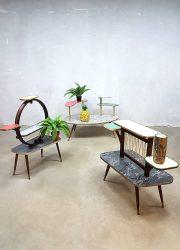 Vintage retro fifties plant stand display flower table plantentafel jaren 50