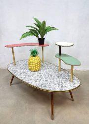 vintage bijzettafel hoektafel retro fifties design coffee table