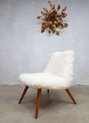 midcentury vintage design easy chair Teddy sheep skin