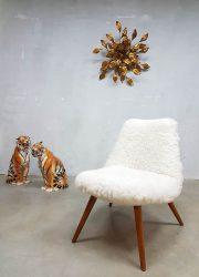 Vintage design easy chair sheepskin schapenvacht fauteuil Teddy