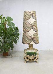 vintage retro lamp vloerlamp West Germany keramische voet