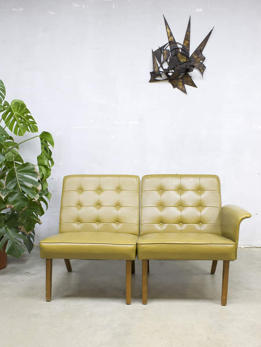 Vintage Sofa Lounge Chairs Love Seat Mad Men Style