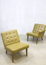 vintage duo lounge chair bank fauteuil jaren 50 mad men