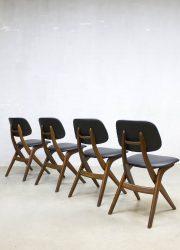 Vintage eetkamerstoelen dinner chairs Webe Louis van Teeffelen