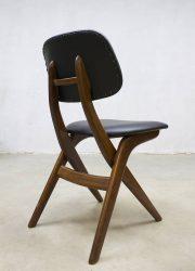 vintage dining dinner chair scissor chair Louis van Teeffelen Webe Dutch design eetkamer stoel