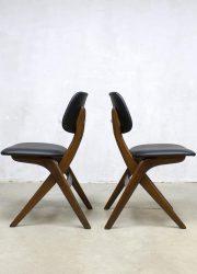 vintage jaren 60 eetkamerstoelen stoelen Webe Louis van Teeffelen Holland dinner chair retro