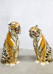midcentury modern keramische tijgers cheetah decoration luxury