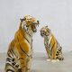 Vintage decoratie tijgers Italian ceramic tigers XL