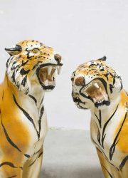 Italian design tijgers keramiek decoratie luxe