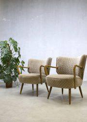 vintage midcentury modern chairs stoelen cocktail armchair retro