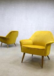 midcentury vintage design velvet chair armchair clubchair fifties retro