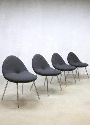 Dutch design Artifort 'little conco' dinner chairs Michiel van den Kley