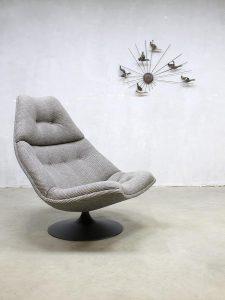 Vintage swivel chair draaifauteuil Artifort Geoffrey Harcourt F590