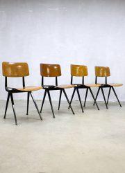 Vintage Friso Kramer Result Industrial school chair stoel Ahrend de Cirkel